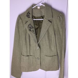 Old Navy Womens Blazer  Herringbone Wool Jacket L